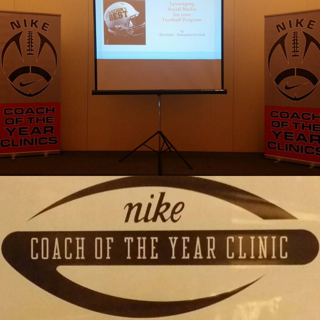 Photo of Nationsbest on slideshow at the Coach of the Year Clinic Nike